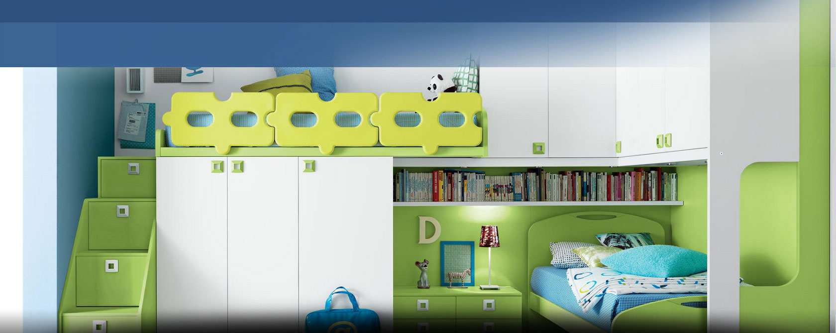 Modern and classic kids bedroom