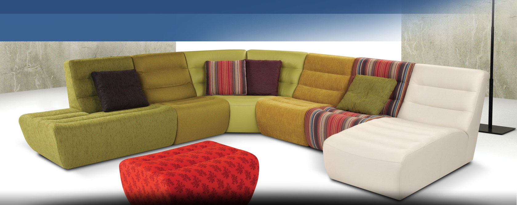Modern and classic sofas